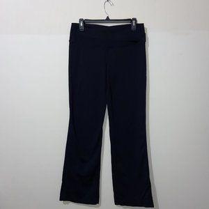 LULULEMON BLACK STRAIGHT LEG YOGA PANTS - 10